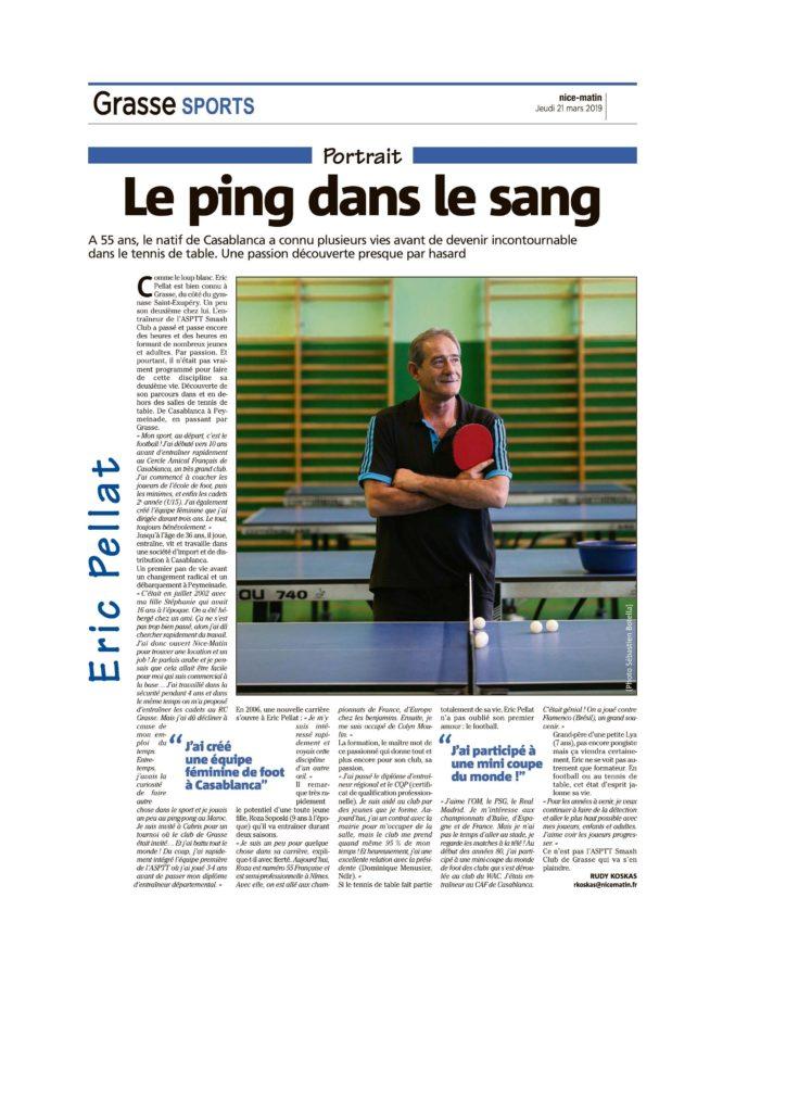 Eric Pellat: Le ping dans le sang